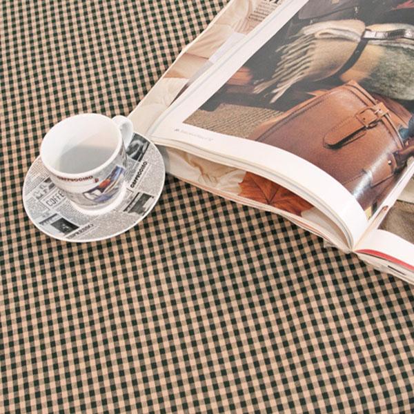 더스케치:빈티지선염체크 (그린0.5cm) 식탁보