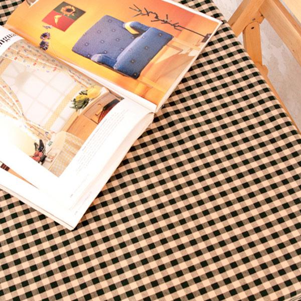 더스케치:빈티지선염체크 (그린1cm) 식탁보