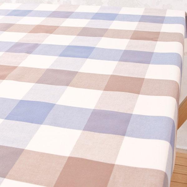 더스케치:파스텔선염체크 (블루브라운6cm) 식탁보