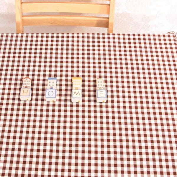 더스케치:선염체크 (브라운1cm) 식탁보