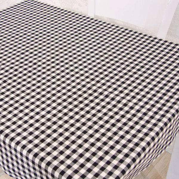 더스케치:선염체크 (블랙1cm) 식탁보