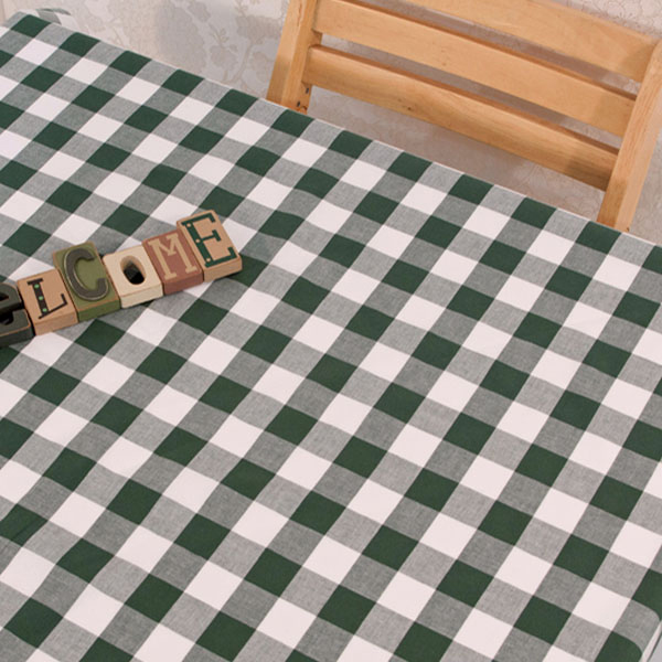 더스케치:선염체크 (딥그린3cm) 식탁보