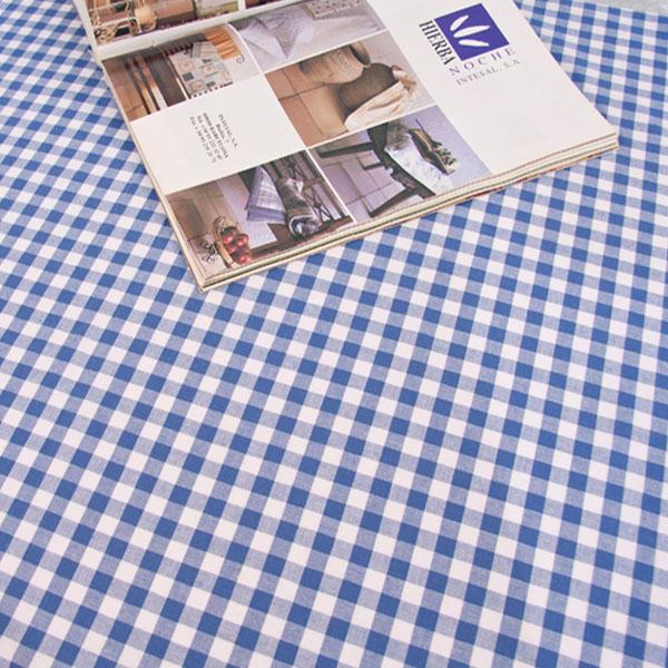 더스케치:선염체크 (블루1cm) 식탁보
