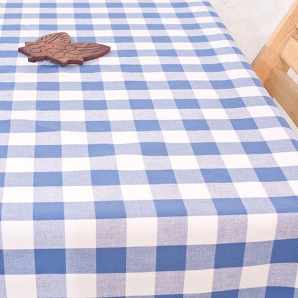 더스케치:선염체크 (블루3cm) 식탁보