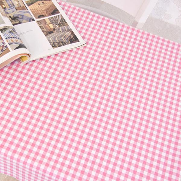 더스케치:선염체크 (핑크1cm) 식탁보